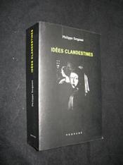 Idées Clandestines - Couverture - Format classique