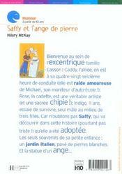 Saffy Et L'Ange De Pierre - 4ème de couverture - Format classique