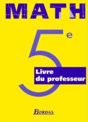 Maths 5e prof 1997 - Couverture - Format classique