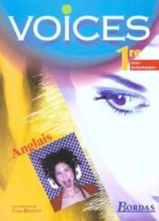 Voices 1re st manuel 2002 - Couverture - Format classique