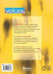 Voices 1re st manuel 2002 - 4ème de couverture - Format classique