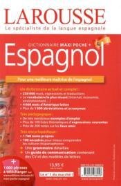 Dictionnaire Larousse maxi poche + espagnol - 4ème de couverture - Format classique