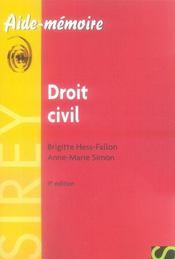 Droit civil (9e édition) - Intérieur - Format classique