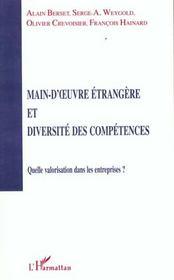 Main-D'Oeuvre Etrangere Et Diversite Des Competences ; Quelle Valorisation Dans Les Entreprises - Intérieur - Format classique