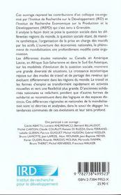 Transformations Du Travail Et Croissance Economique - 4ème de couverture - Format classique