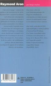 Raymond aron - 4ème de couverture - Format classique
