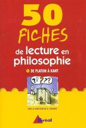 Cinquante fiches de lecture en philosophie t.1 - Intérieur - Format classique