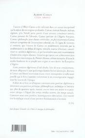 Albert Camus, l'exil absolu - 4ème de couverture - Format classique