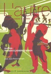 Revue L'Autre N.6 ; Penser, Classer, Soigner - Intérieur - Format classique