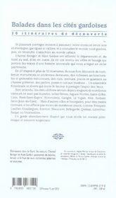 Balades dans les cités gardoises - 4ème de couverture - Format classique