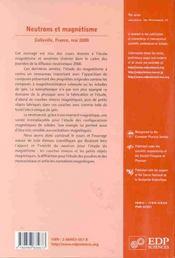 Jdn 9 - Neutrons Et Magnetisme - 4ème de couverture - Format classique