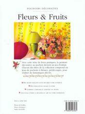 Pochoirs Decaratifs, Fruits Et Fleurs - 4ème de couverture - Format classique