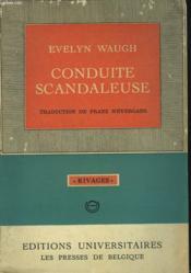 Conduite Scandaleuse - Couverture - Format classique