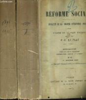 La Reforme Sociale Bulletin De La Societe D'Economie Sociale Et Des Unions De La Paix Sociale - Annee 1895 En Deux Volumes - Tome Xxix Et Xxx - N°97 Et 1907. - Couverture - Format classique