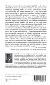 The keys to Guinea's development - 4ème de couverture - Format classique