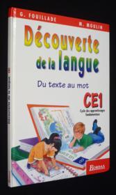 Decouverte de la langue ce1 el - Couverture - Format classique