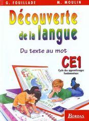 Decouverte de la langue ce1 el - Intérieur - Format classique