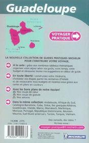 Voyager Pratique ; Guadeloupe - 4ème de couverture - Format classique