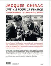 Jacques Chirac ; une vie pour la France - 4ème de couverture - Format classique