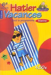 Hatier Vacances ; Mathematiques 6eme/5eme - Couverture - Format classique