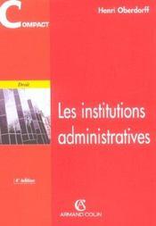 Les Institutions Administratives - Intérieur - Format classique