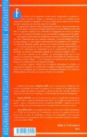 La Qualite Au Xxi Siecle ; Vers Le Management De La Confiance - 4ème de couverture - Format classique