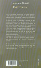 Pietro Querini - 4ème de couverture - Format classique