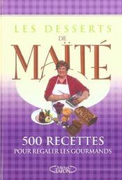 Les desserts de maite - 500 recettes pour regaler les gourmands - Intérieur - Format classique