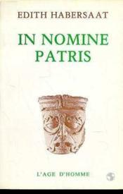 In Nomine Patris - Couverture - Format classique