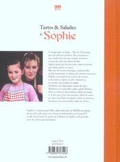 Tartes Et Salades De Sophie - 4ème de couverture - Format classique