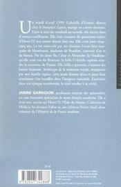 Gabrielle d'estrees aux marches du palais - 4ème de couverture - Format classique