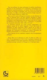Histoire Du P.O.U.M - 4ème de couverture - Format classique