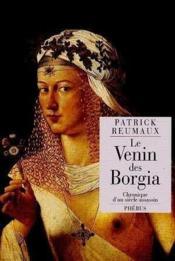 Le venin des borgia - Couverture - Format classique