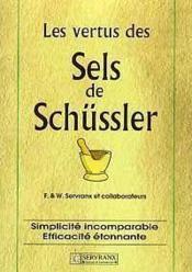 Vertus Des Sels De Schussler - Couverture - Format classique