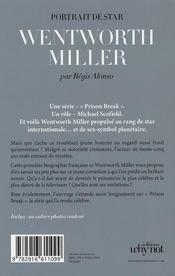 Wentworth Miller - 4ème de couverture - Format classique