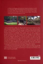 L'école française d'Extrême-Orient et le Cambodge 1898-2008 - 4ème de couverture - Format classique