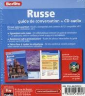 Russe ; coffret guide conversation - 4ème de couverture - Format classique
