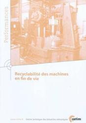 Recyclabilite des machines en fin de vie performances 9q152 - Couverture - Format classique