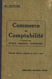 Commerce et comptabilité à l'usage des écoles primaires supérieures - Couverture - Format classique