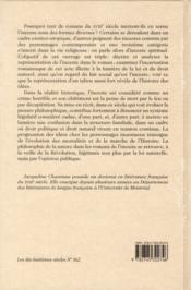 L'inceste romanesque au siècle des lumières ; de la Régence à la Révolution (1715-1789) - 4ème de couverture - Format classique