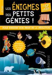 Les énigmes des petits génies ! ; du CP au CE1 - Couverture - Format classique