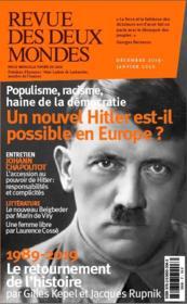 REVUE DES DEUX MONDES ; Hitler - Couverture - Format classique
