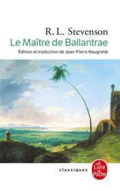 Le maître de Ballantrae - Couverture - Format classique