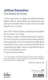 Une histoire de France - 4ème de couverture - Format classique