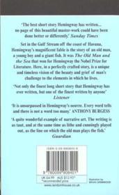 The Old Man and the Sea - 4ème de couverture - Format classique