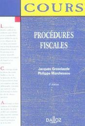 Procedures Fiscales - Intérieur - Format classique