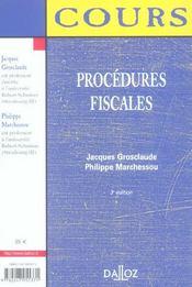 Procedures Fiscales - 4ème de couverture - Format classique