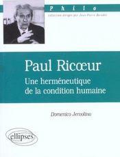 Paul ricoeur - Intérieur - Format classique