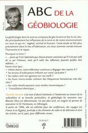 Abc de la geobiologie - 4ème de couverture - Format classique