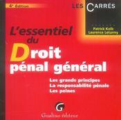 Essentiel du droit penal general 4e ed. (l') - Intérieur - Format classique